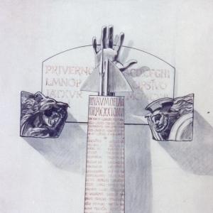 Progetto per il Monumento ai caduti di Priverno