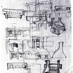 Studi per mobili da vestibolo