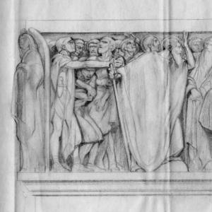 Bozzetto per altare della chiesa di San Pietro e Paolo all'EUR