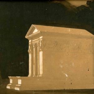 Progetto per il tempietto virgiliano a Mantova